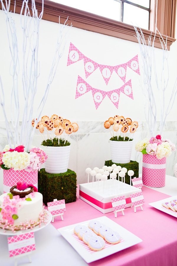 baby girl pink table