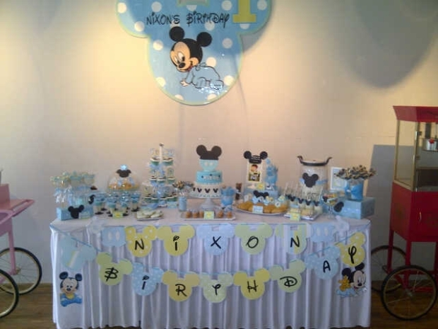Nixon Baby Mickey  birthday party.