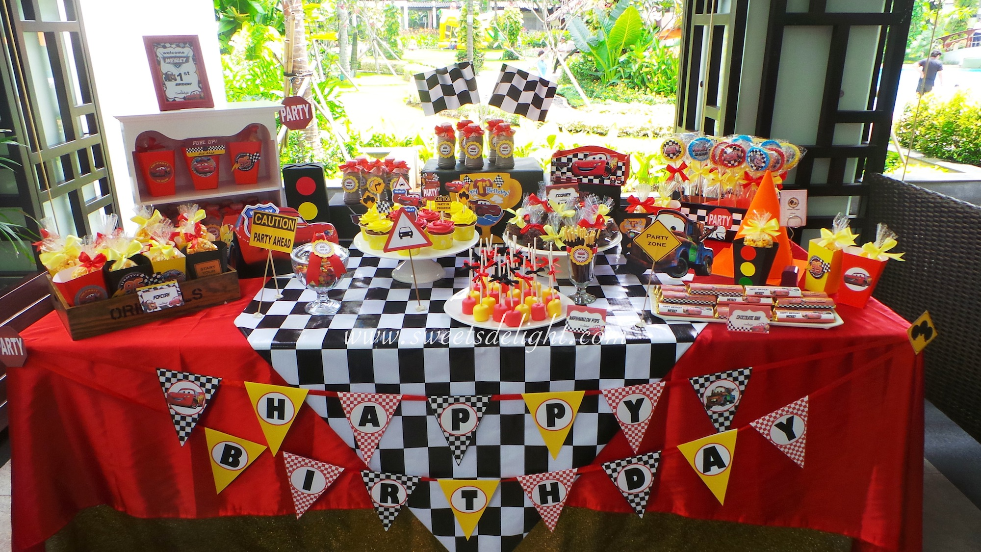 Cars Wesley 1st Birthday Sweets Delight