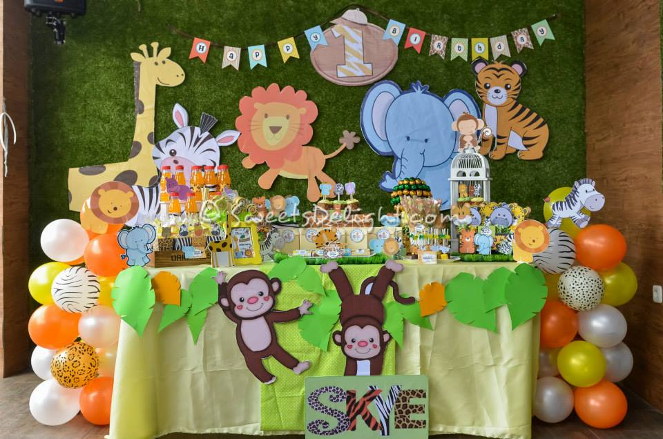 Jungle Party Skye 1st Birthday Party Sweets Delight