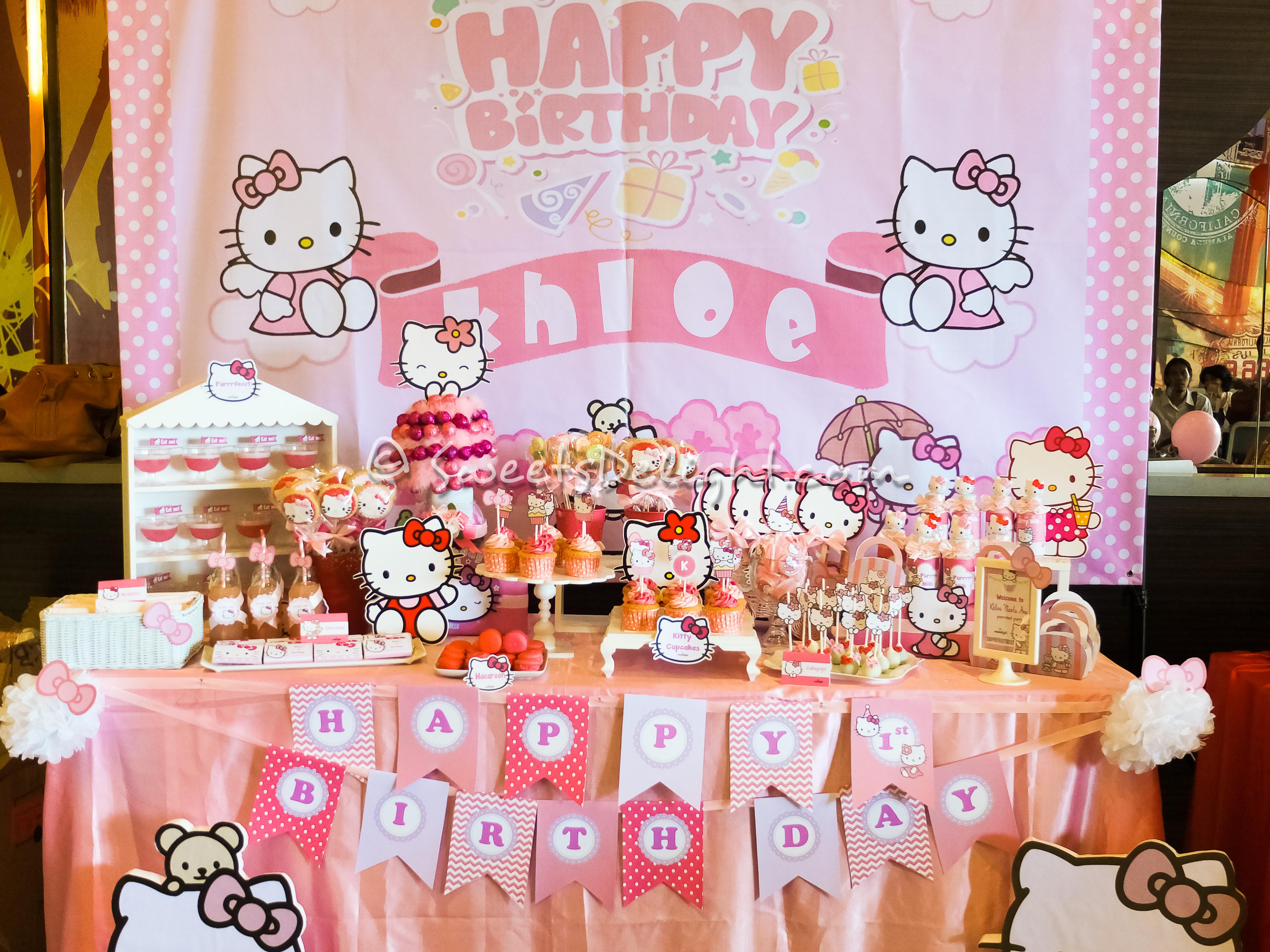 Hello Kitty Khloe Birthday Party Sweets Delight