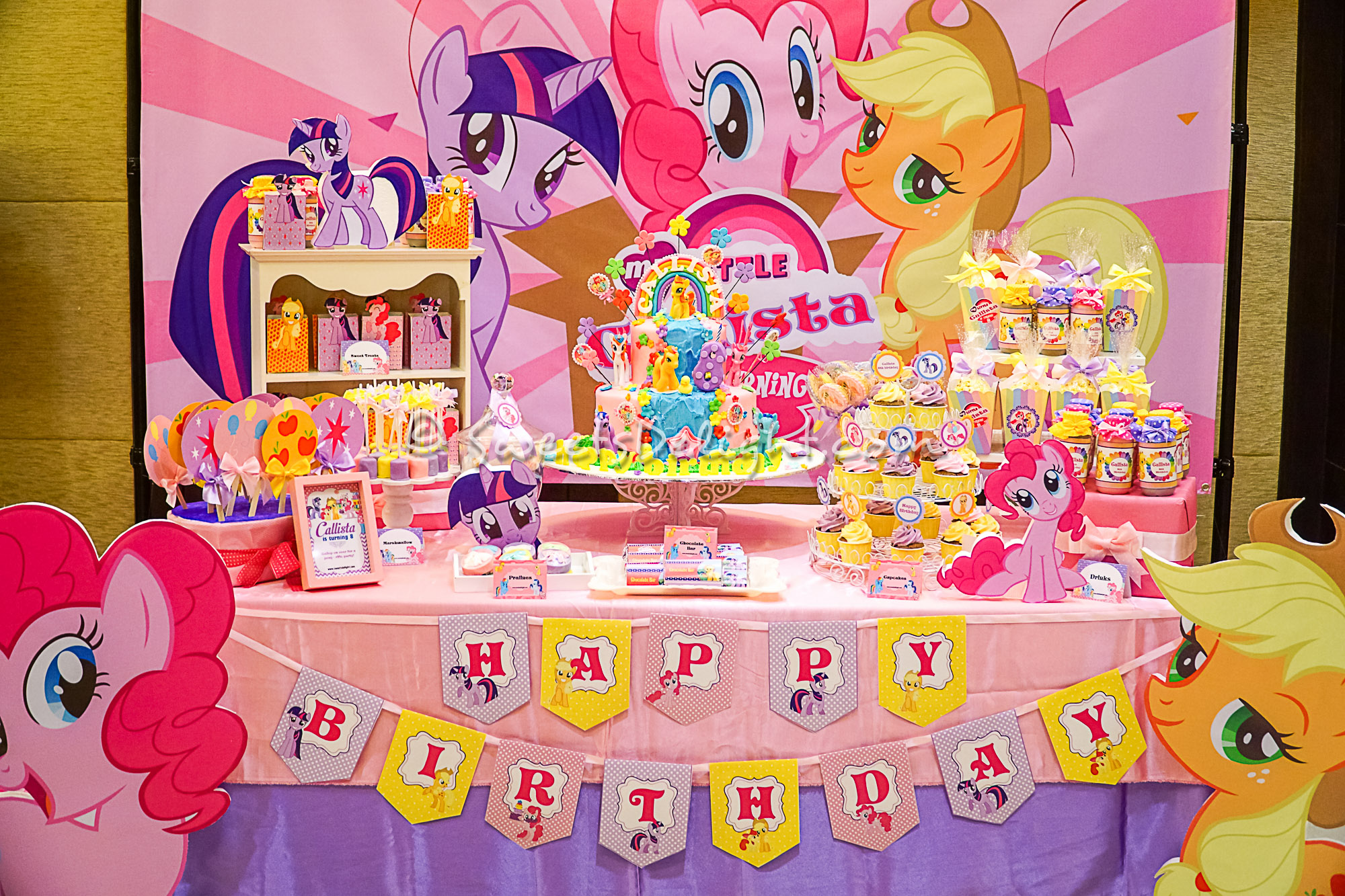 Christmas Decoration Themes My Little Pony Dessert Table Sweets Delight